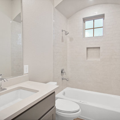Full secondary baths help your VIP guests feel right at home