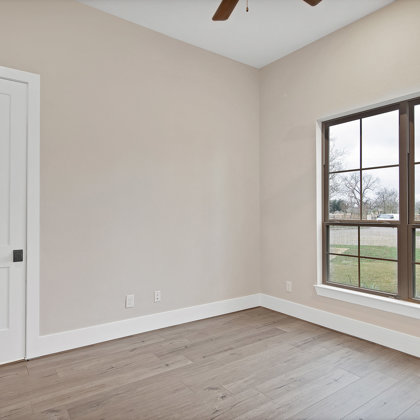 Secondary suites have full baths and walk-in closets attached