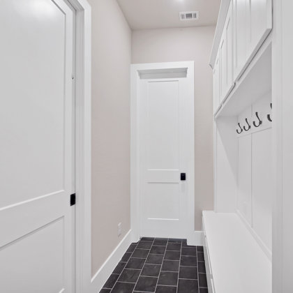 Built-in drop zone at owner's entry